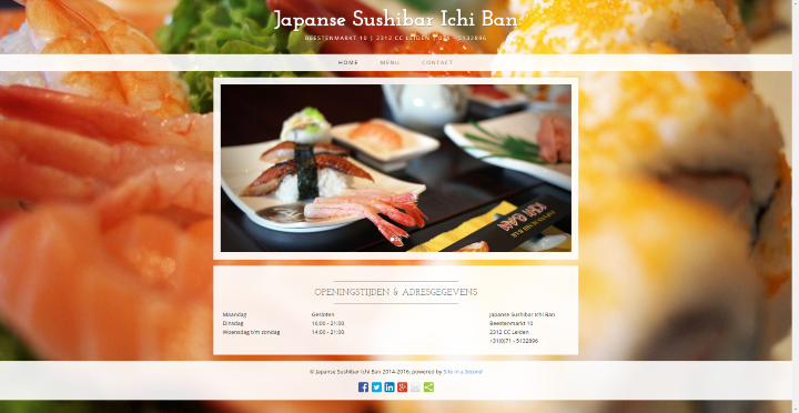 Website Ichiban Leiden - Site in a Second