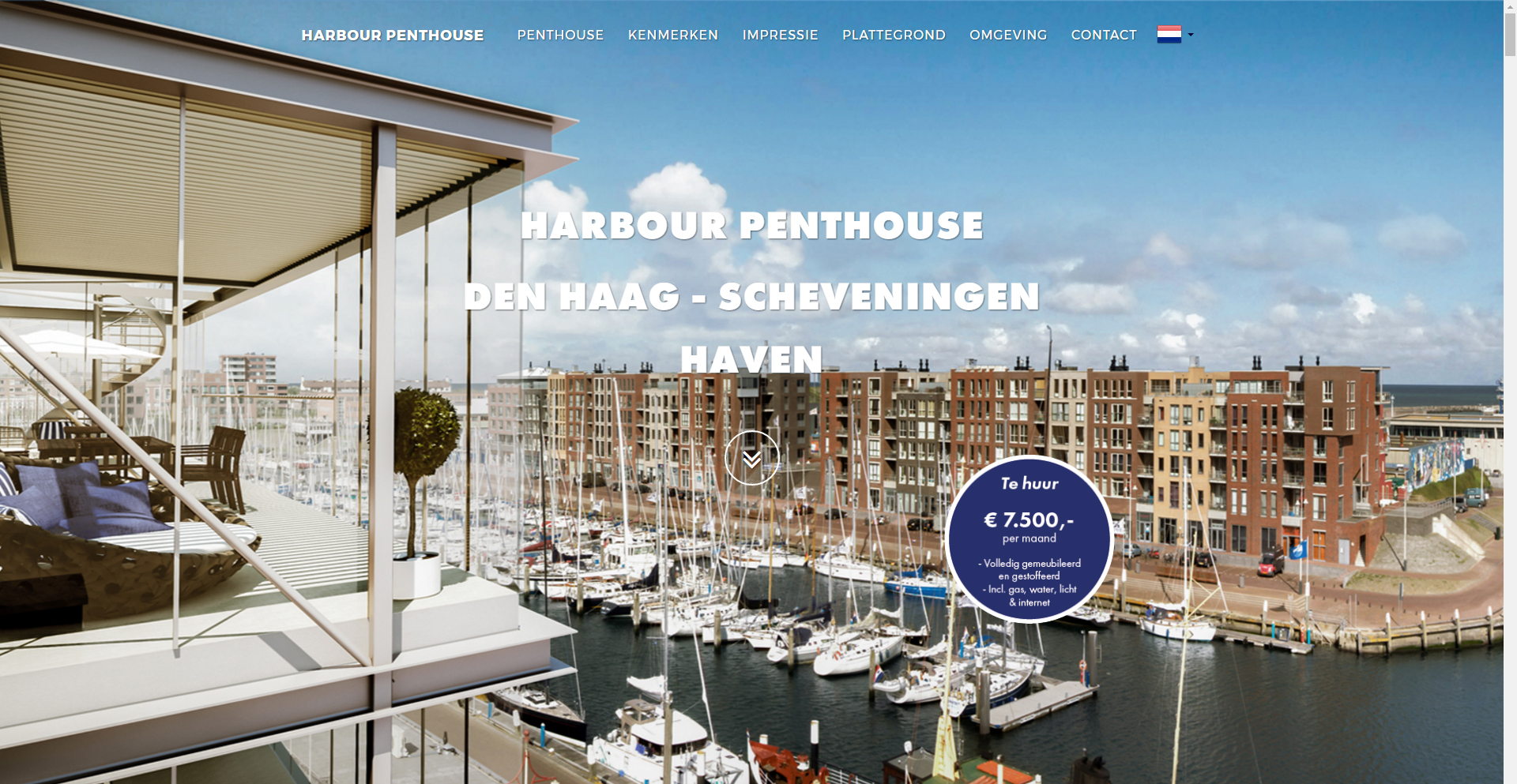 Website Harbour Penthouse - Site in a Second
