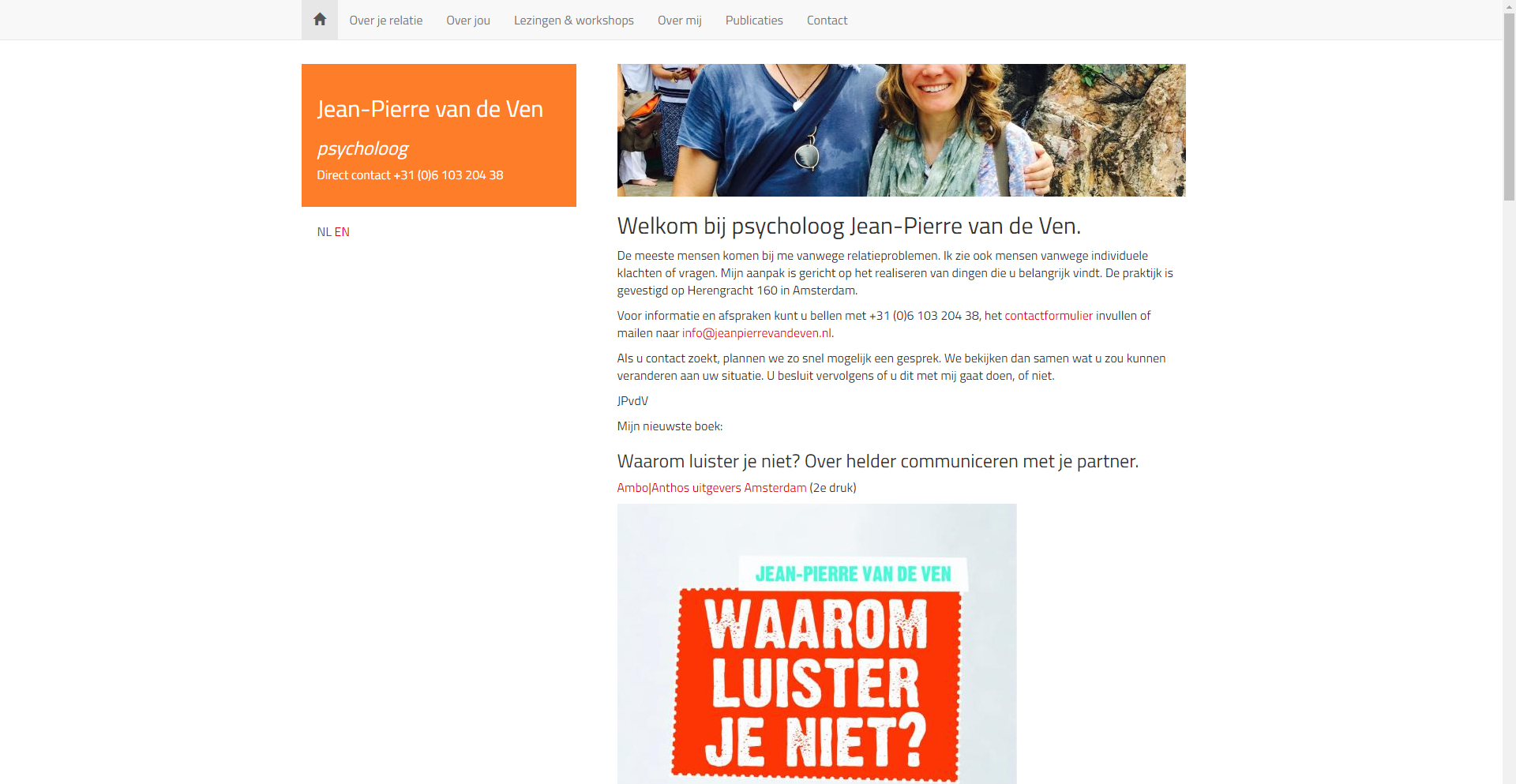 Website Jean-Pierre van de Ven | Psycholoog - Site in a Second