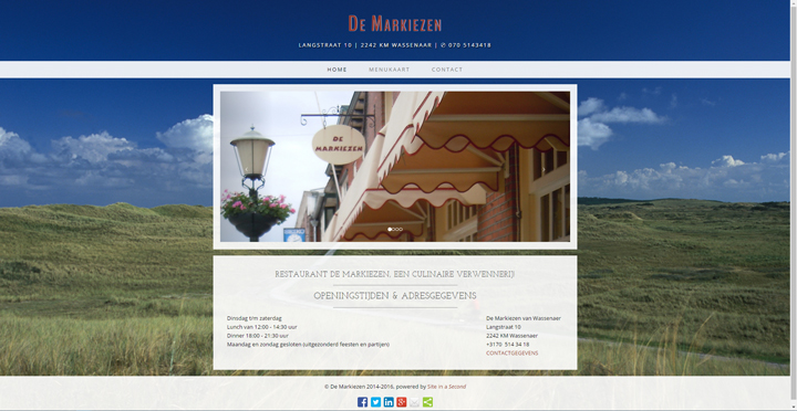 Website De Markiezen by Site in a Second