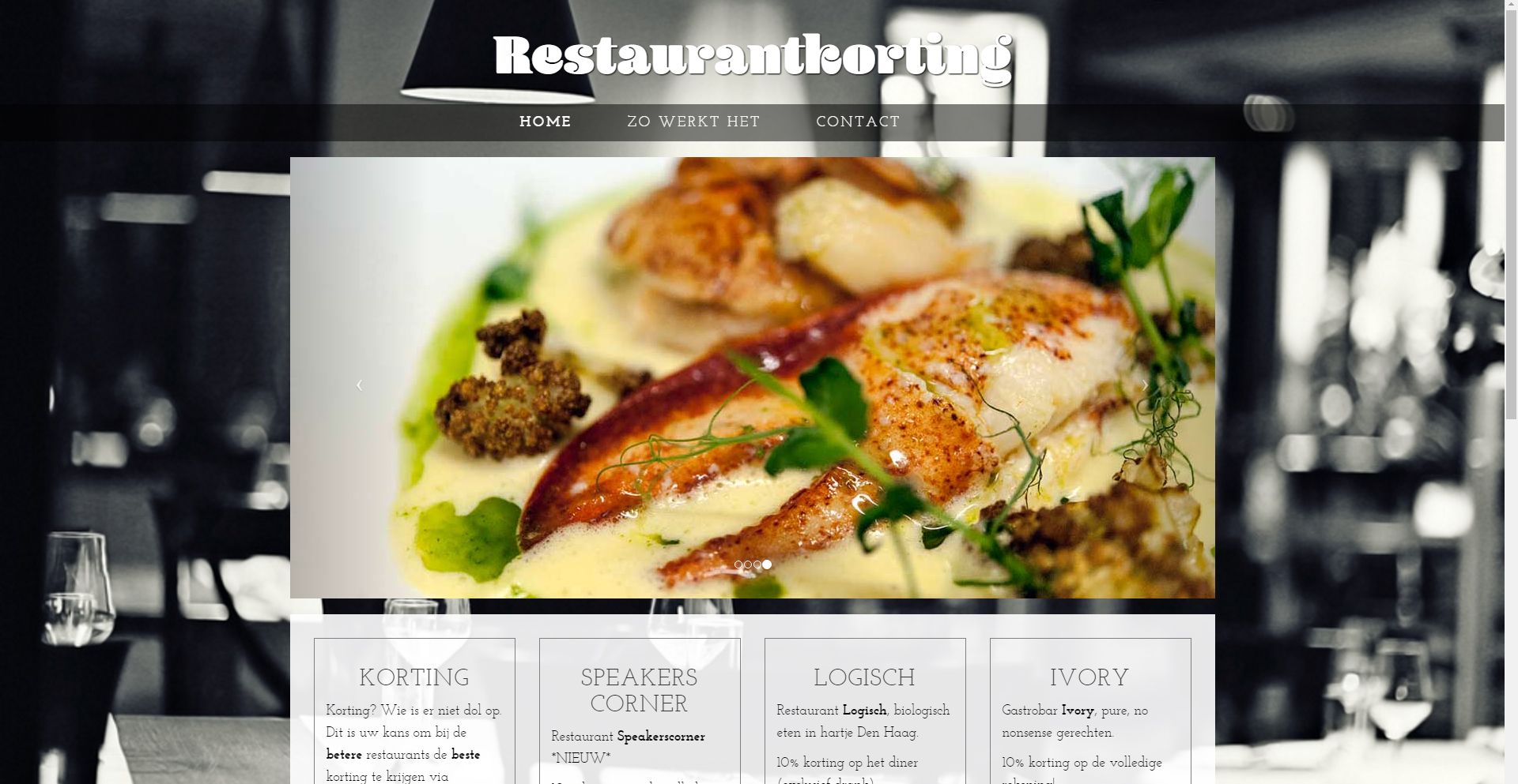 Website Restaurantkorting by Site in a Second