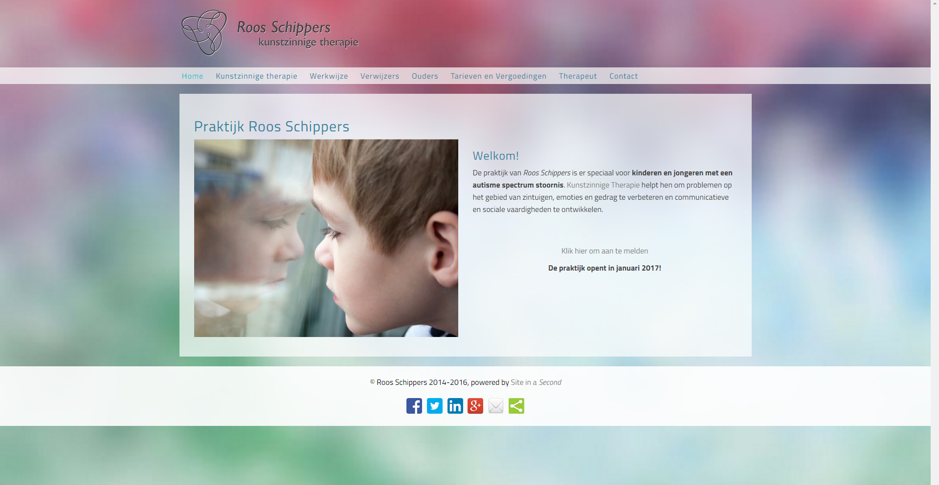 Website Roos Schippers - Site in a Second
